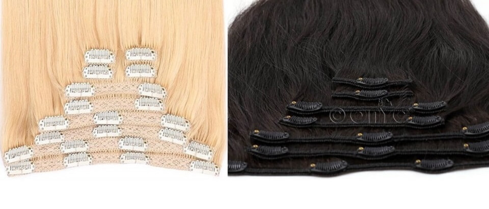 Different Hair Extension Types and Methods - 2. Clip In Hair Extensions