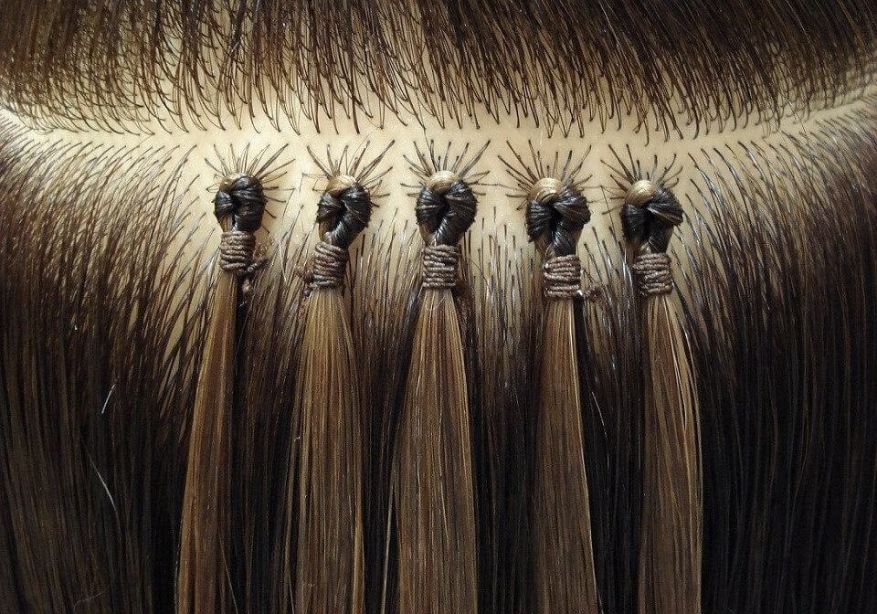 Different Hair Extension Types and Methods - 4. Bonding  Loop Fusion Hair Extensions