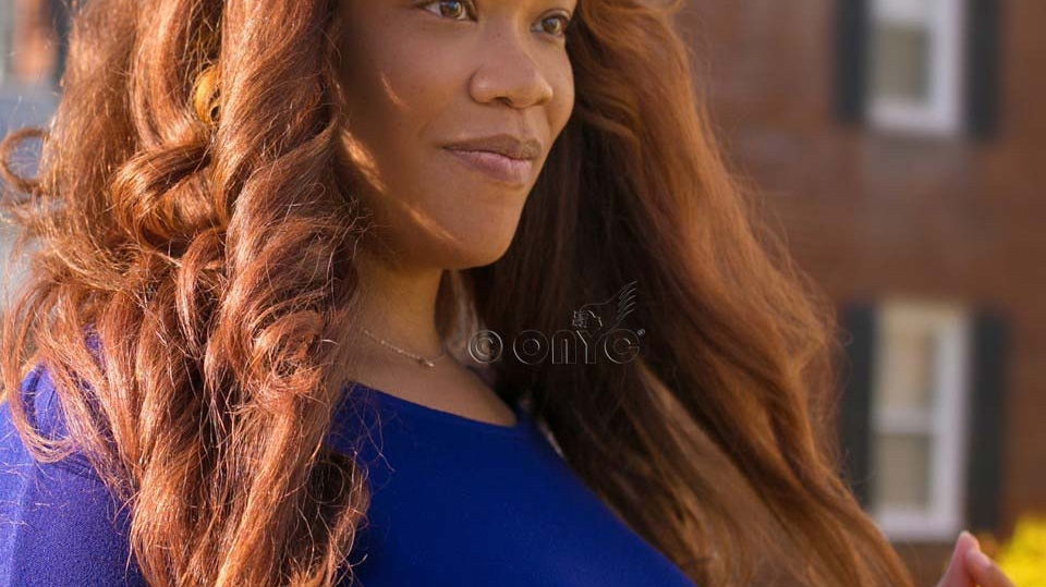 Beautiful Devin Wearing ONYC Hair Fro Out Kinky Straight Colored 5