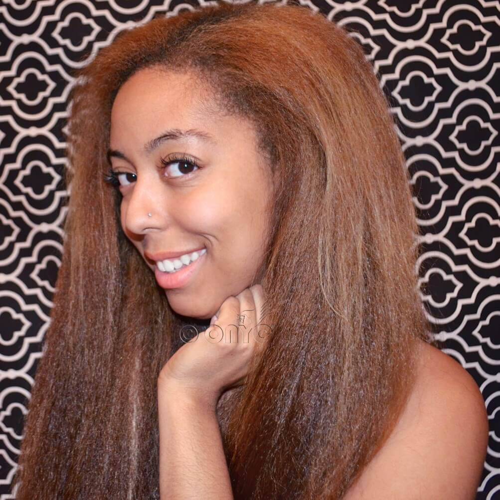colored kinky straight hair Beautiful ONYC Happy Customer Lexi Rocking Fro Out Colored Kinky Straight Hair