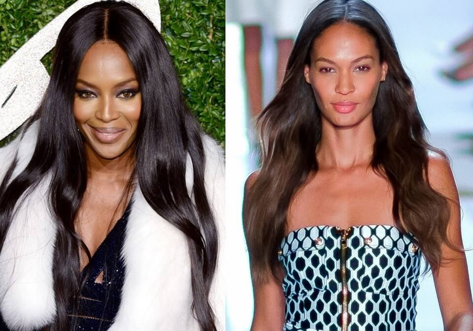 . Center Part Hairstyle black celebrity red carpet hairstyles