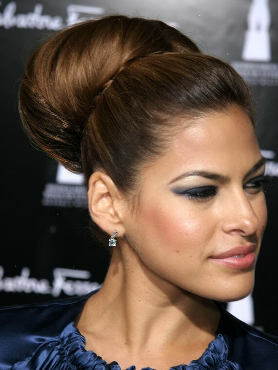 Celeb Inspired Holiday Hairstyles Classic Chignon