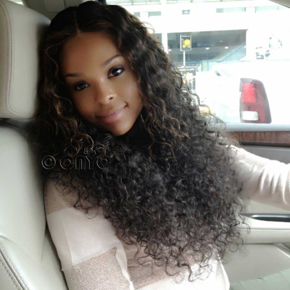 Curly Weave Hair Style ONYC Curly Hair Extension Gallery Demetria Mckinney Rocking ONYC Hair Curly Addiction 3B Natural Black