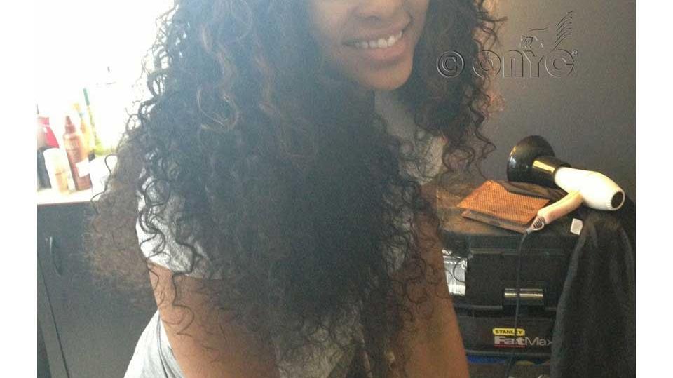 Demetria Mckinney Rocking ONYC Hair Curly Addiction 3B Weft
