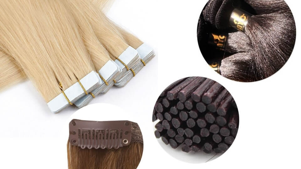 Different Hair Extension Types And Methods