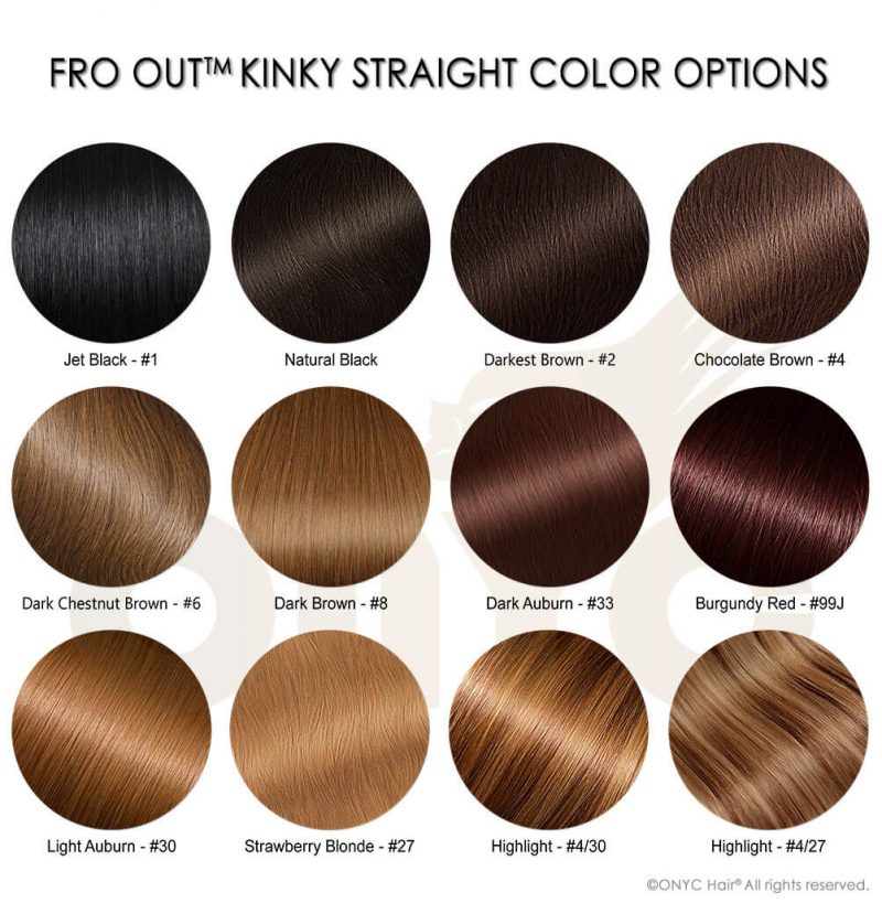 Fro Out Kinky Straight Color Options