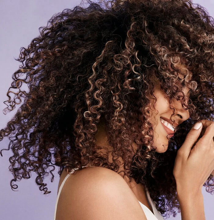 how to color curly hair without damage