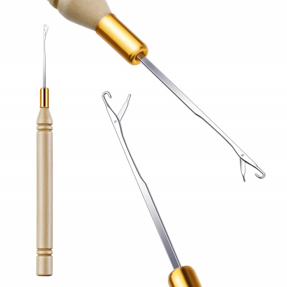 Shop Hair Extension Hook for Crochet, Micro Ring Beed, and Feather Hair. Hair Extensions Loop Latch Hook Needle is an ideal Dread Maintenance Installation.