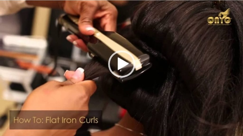 How To – Bouncy Flat Iron Curls Tutorial