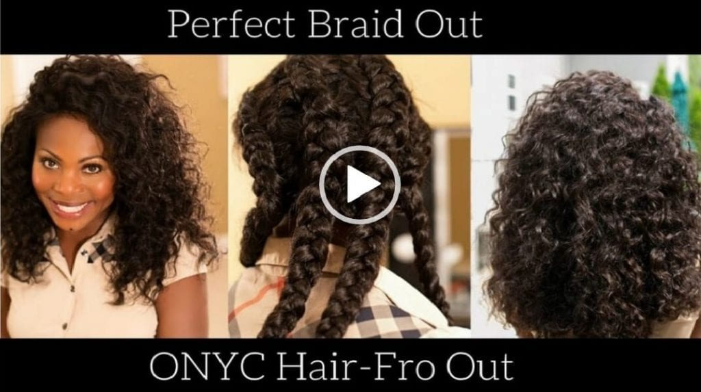 How To – Quick Braid Out On Fro Out Kinky Straight
