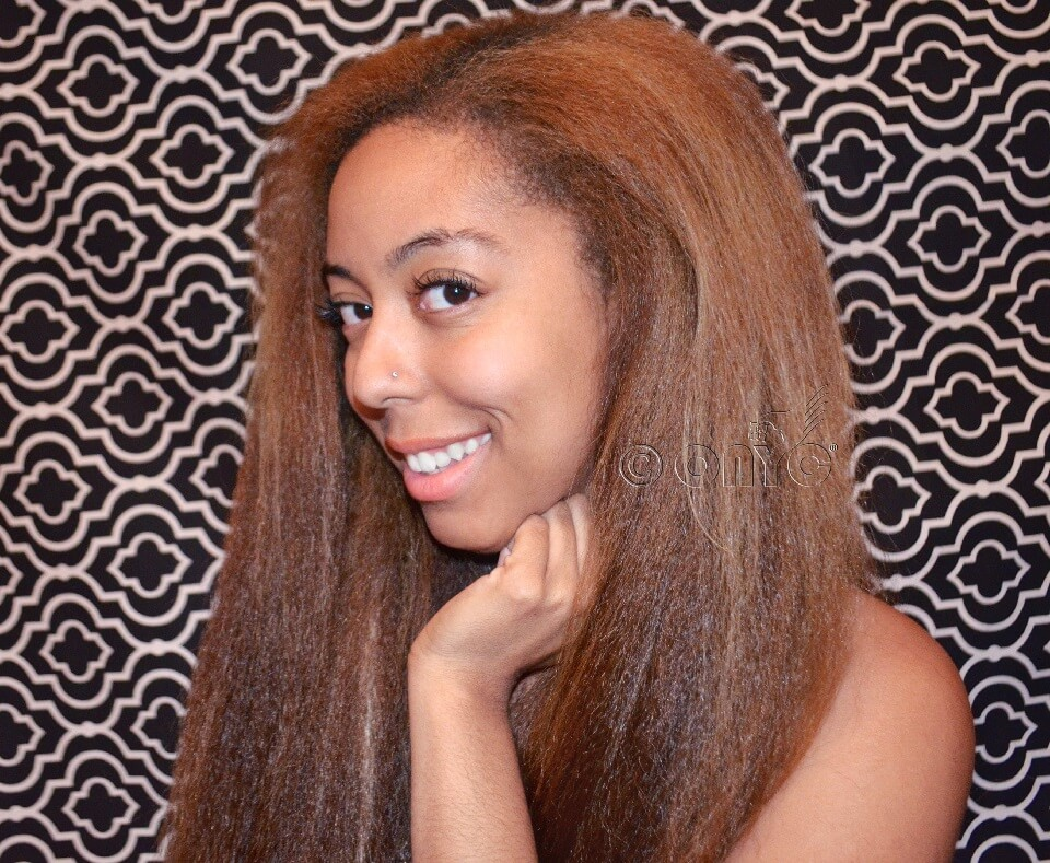 Colored Kinky Straight Hair Review Lexi ONYC Fro Out