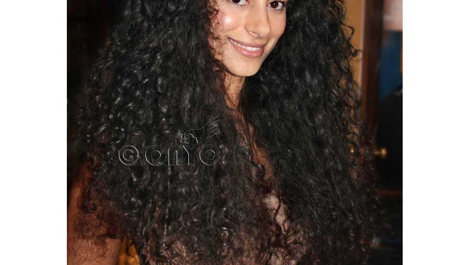 Natural Deep Curly 3B Hair Extensions Brushed Out ONYC Hair