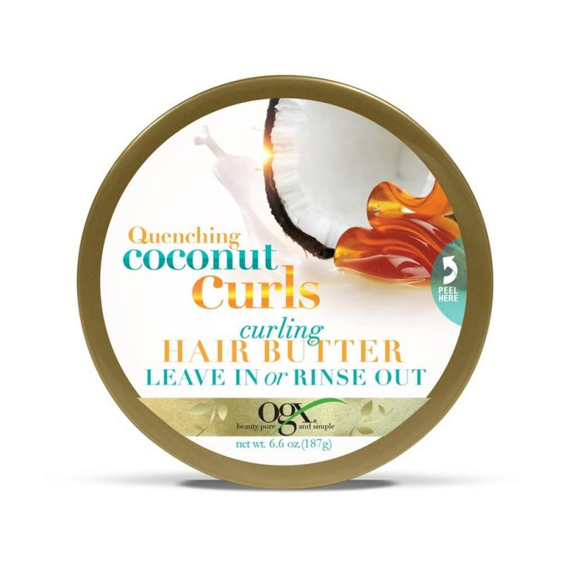 OGX Quenching Coconut Curls Curling Hair Butter, 6.6 Ounce (2)