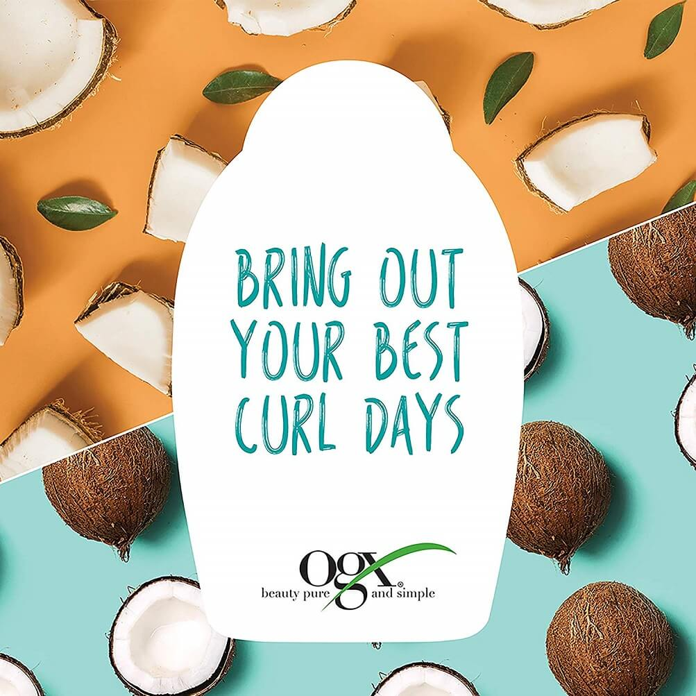 oxy quenching plus coconut curls frizz defying styling milk. curly hair styling products, best natural curly hair products, best products for curly frizzy hair, best cheap curly hair products
