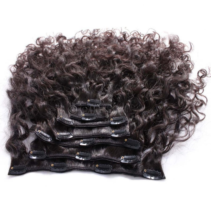 Deep Curly Clip In Hair Extensions ONYC 7 Piece Clip In Curly Addiction 3B Deep Curly Hair 2