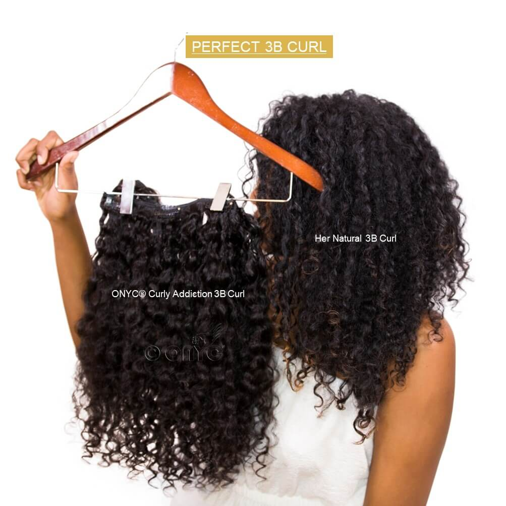 ONYC 7 Piece Clip In Curly Addiction 3B Deep Curly Hair Perfect Match