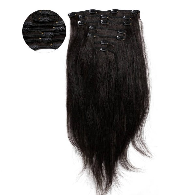 ONYC 7 Piece Clip In Relaxed Perm Straight Hair2