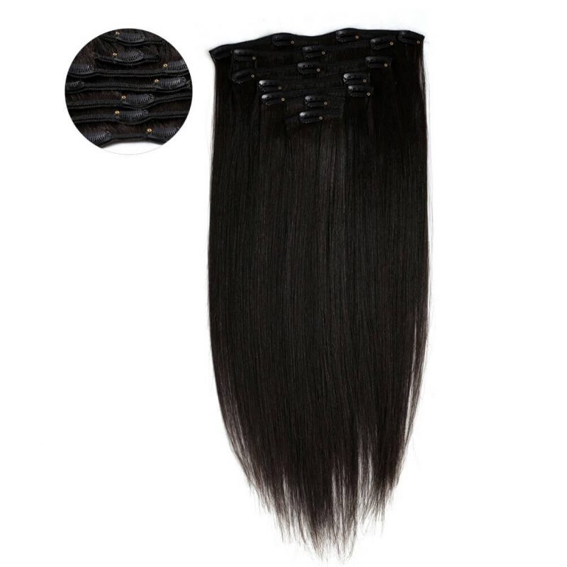 ONYC 7 Piece Clip In Light Relaxed Hair