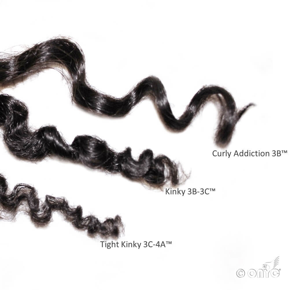 Deep Curly Hair Weave Extension ONYC Beautiful C Curls Curly Addiction, Kinky 3B3C And Tight Kinky 3C4A