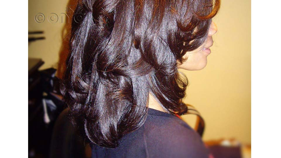 ONYC Beauty Kim Wearing Relaxed Perm Weft And Closure Styled By Thelma