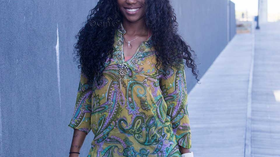 ONYC Beauty Racquel Wearing Curly Addiction 3B Natural Curl