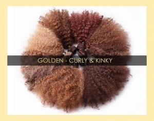 ONYC Colored Virgin GOLDEN CURLY KINKY Hair