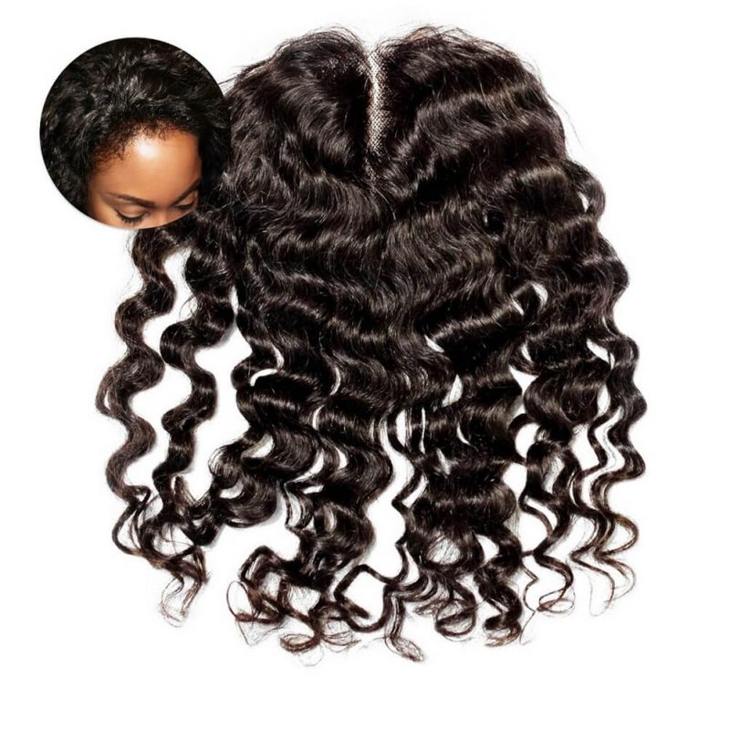 ONYC Curly Addiction 3B Deep Curly Hair Lace Frontal Closure