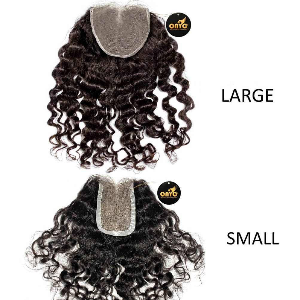 Deep Curly Frontal Closure Piece ONYC Curly Addiction 3B Deep Curly Hair Lace Frontal Closure Lace View
