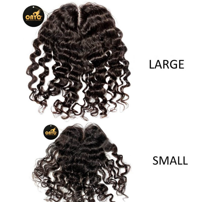 ONYC Curly Addiction 3B Deep Curly Hair Lace Frontal Closure Small And Large