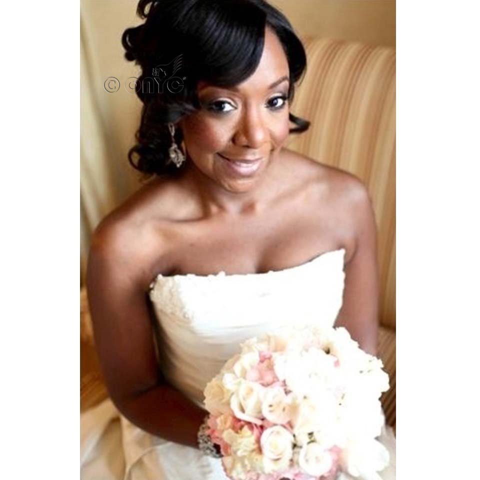 ONYC Hair Relaxed Perm Reviews Tonya ONYC Hair Beauty Tonya Saunders Wearing Relaxed Perm For Her Wedding. African American Wedding hairstyles