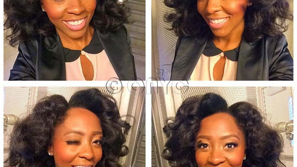 ONYC Hair Customer Patty Wearing Fro Out Kinky Straight Hair Roller Set