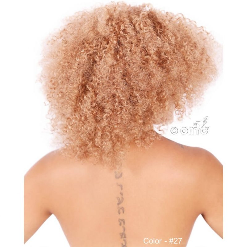 ONYC Hair Kinky 3B 3C™ Colored Color 27 Naomi Back View