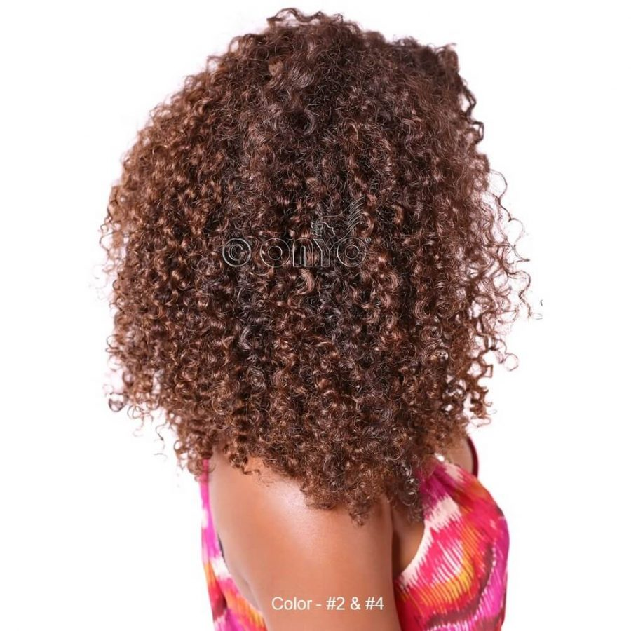 Colored Kinky Curly Hair Weave Extensions ONYC Hair dyed Natural Kinky 3B3C Hair Weave Extensions ONYC Hair Kinky 3B 3C™ Colored Color 4 And 2 Thelma