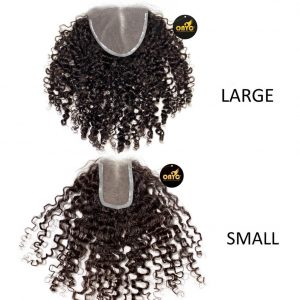 Kinky Curly Closure Piece Frontal Natural Kinky Curly Hair Lace Closure ONYC Hair Kinky 3B 3C™ Frontal Lace Closure Large And Small