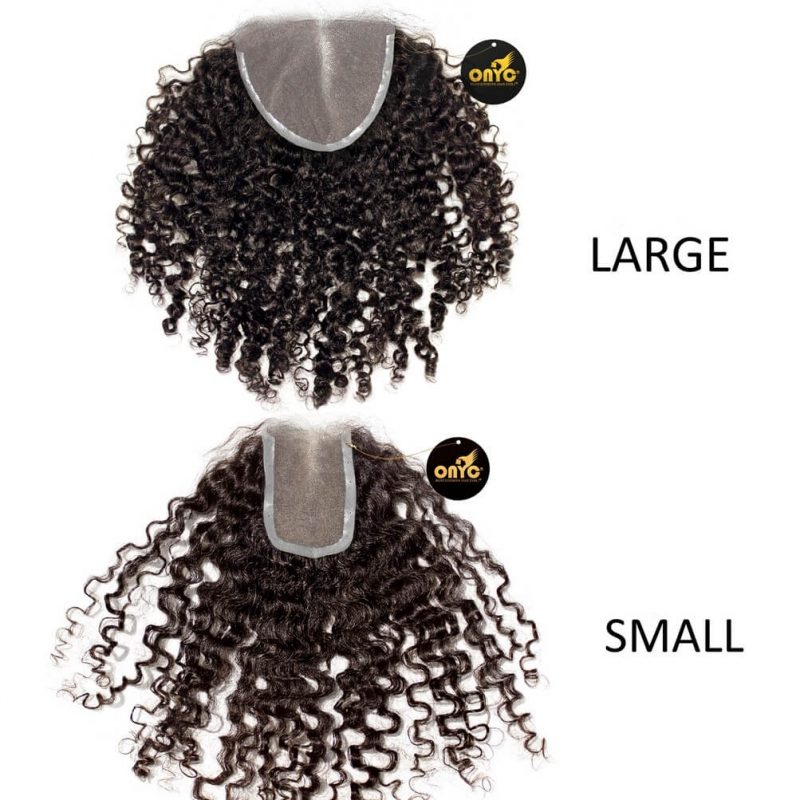 ONYC Hair Kinky 3B 3C™ Frontal Lace Closure Large And Small
