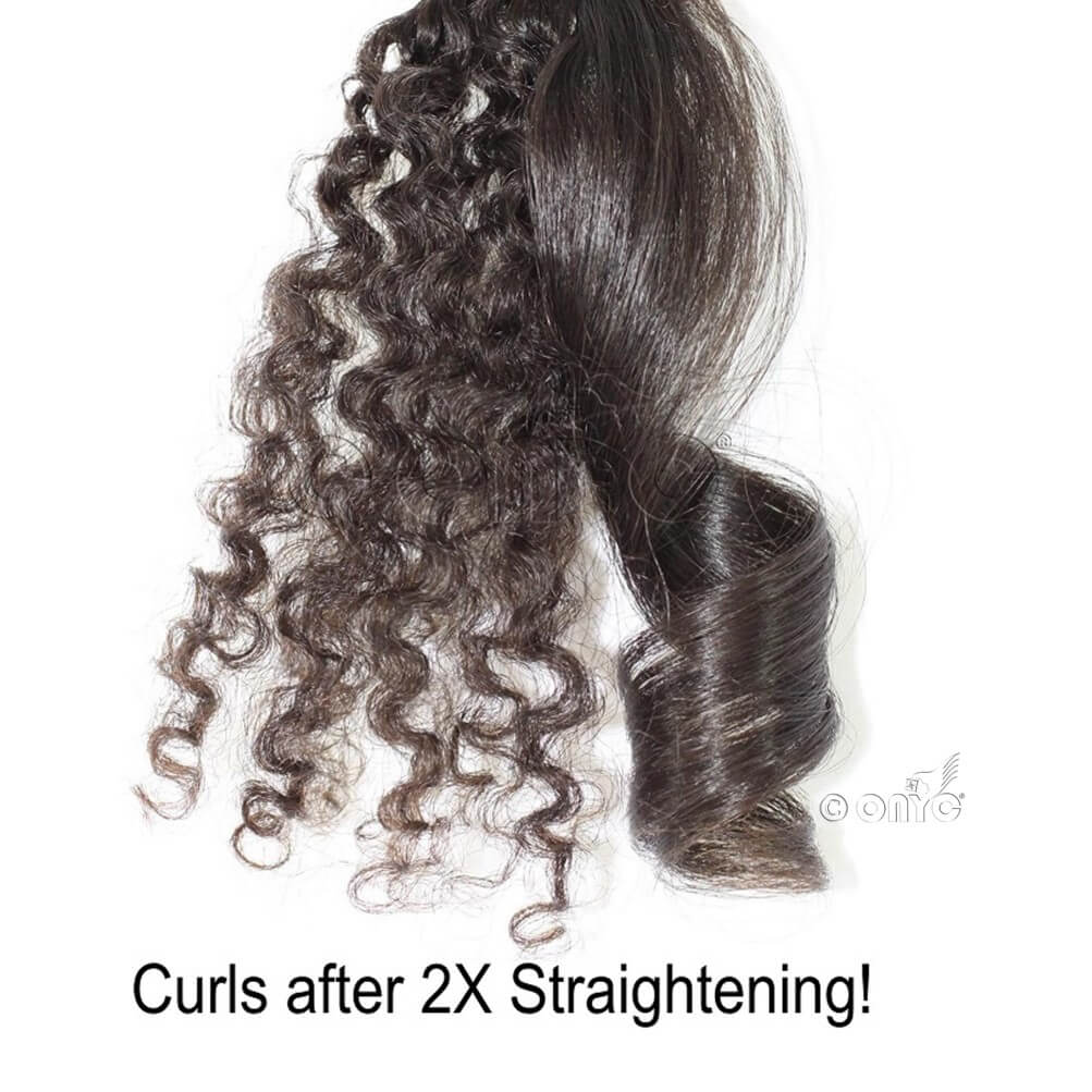Virgin Kinky Curly Hair Extensions Machine Weft ONYC 3B-3C Curl ONYC Hair Kinky 3B 3C™ Machine Weft Curled