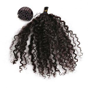Kinky Curly I Tip Hair Extensions Method. Pre-Tipped, strand by strand. ONYC Hair Kinky 3B3C Perm I Tip