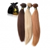 Colored Straight Weave Relaxed Hair Texture ONYC Hair Light Relaxed Perm Golden Collection Hair