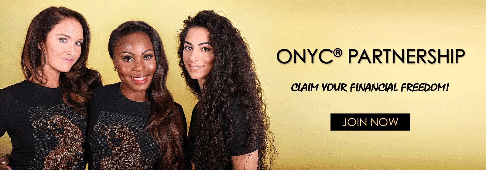 ONYC Hair Partnership Banner. NO 1 Hair Extensions Shop for Virgin Hair! Black-Owned Company, Hair Brand for Best Natural Hair Extensions to match all Hair Types.