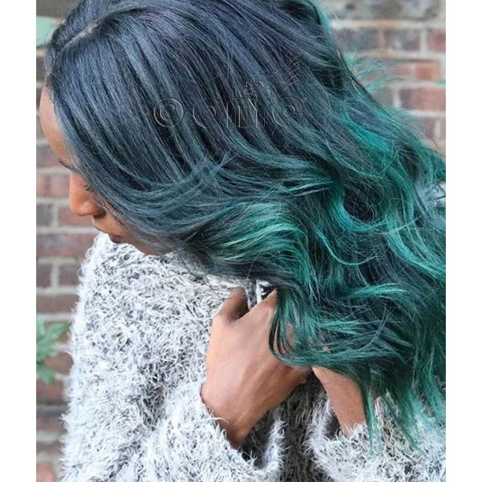 ONYC Hair Relaxed Hair Green Color