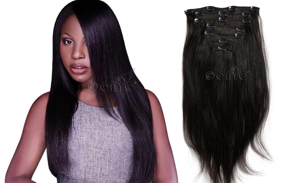ONYC Hair Straight Textured Hair Relaxed Perm Kinky Straight Virgin Hair