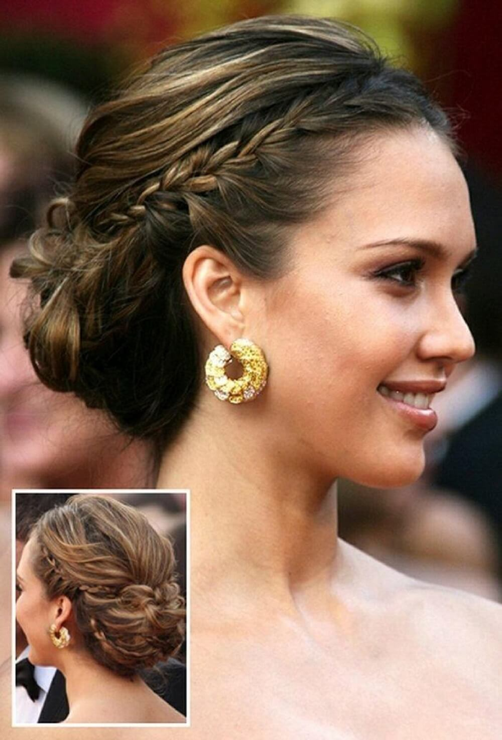 Celeb Inspired Holiday Hairstyles ONYC Hair Styling Guide Celeb Inspired Holiday Hairstyles Braided Bun