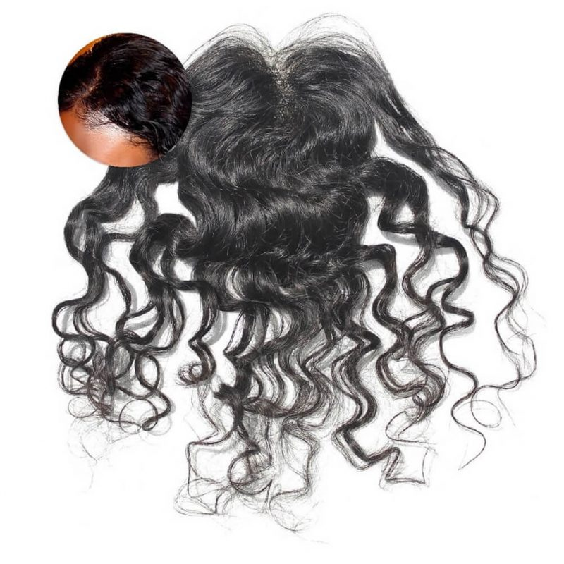 ONYC Indian Curly Hair Weave 3A Frontal Closure Piece