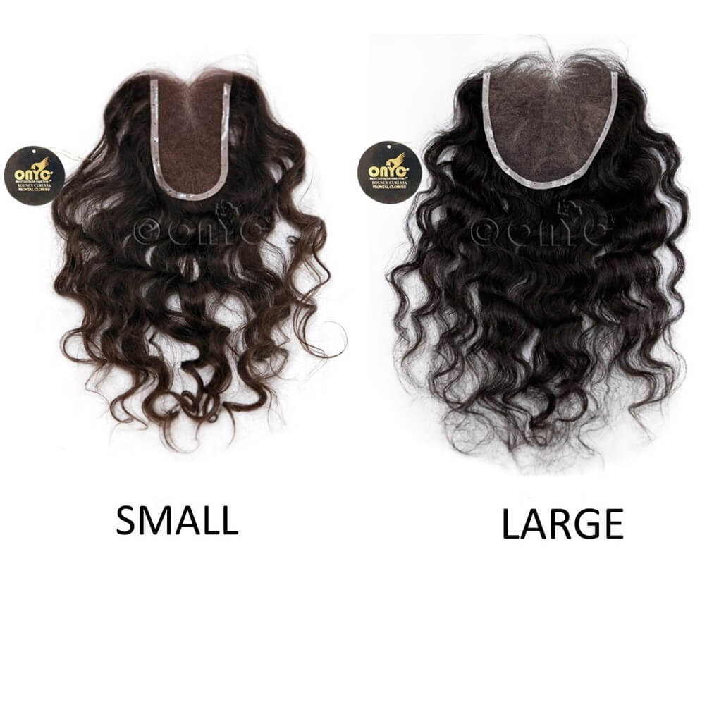 Indian Curly Closure Piece ONYC Indian Curly Hair Weave 3A Lace View