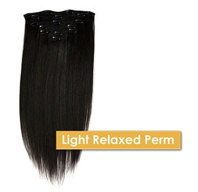 ONYC Light Relaxed Perm Clip In Hair