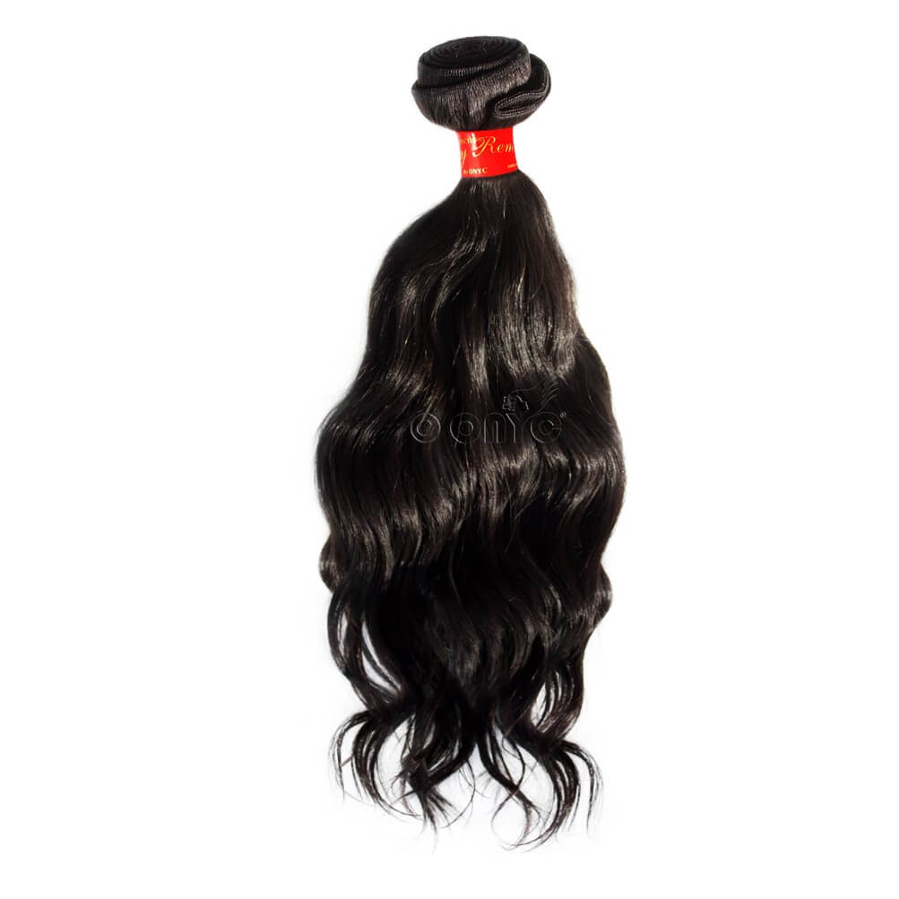 Virgin Remy Wavy Hair Weave Extension ONYC Sassy Remy Loose Wavy Human Hair