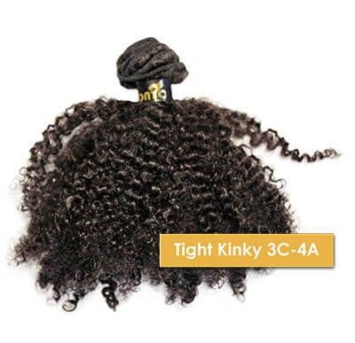 Different Hair Weave Textures - ONYC Tight Kinky 3C 4A Machine Weft