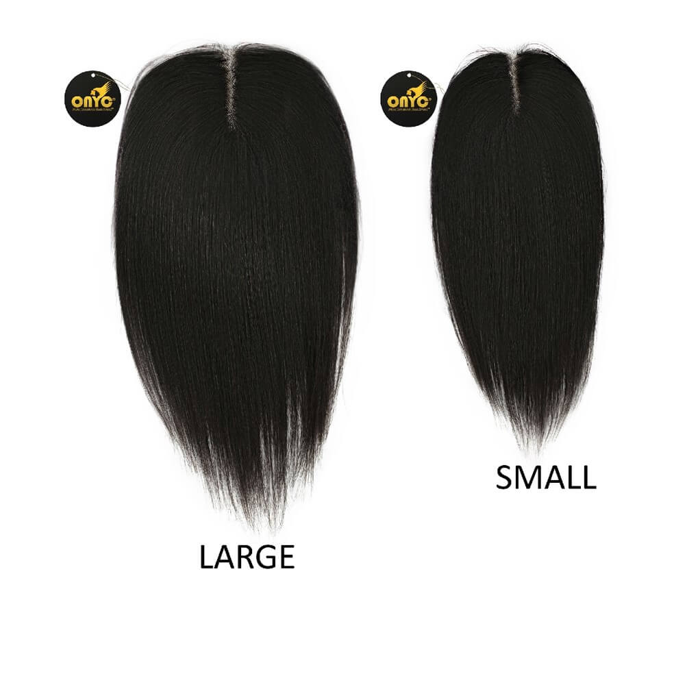 Silky Straight Hair Closure with Baby Hair for Most Natural Look! ONYC Virgin 1B Frontal Closure Small and Large