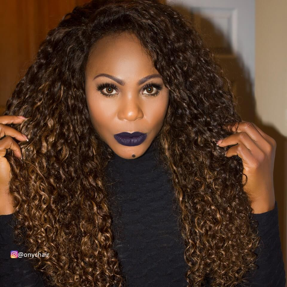 Our Own @facesofony Wearing ONYC Curly Addiction 3B Colored