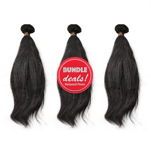 Relaxed Perm Hair Bundle Deals with Closures Discount Hair Weave Relaxed Perm Bundle Deal
